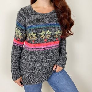 AEO Snowflake Wool Blend Jegging Sweater Small